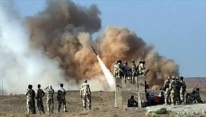 İran, ABD üslerini onlarca füzeyle vurdu