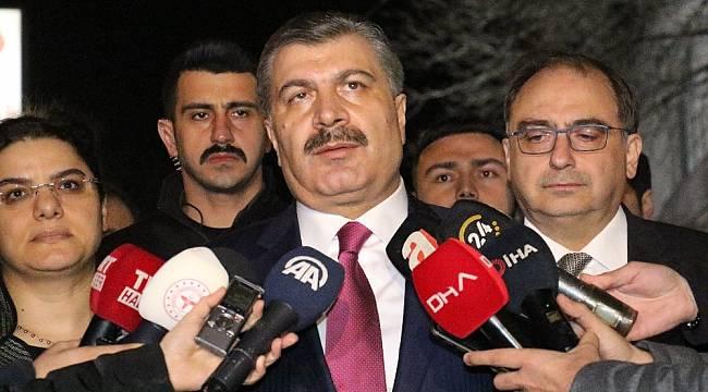 """Sağlık Bakanı Koca: """"Yapılan testlerde Korona virüsüne rastlanmadı"""""""