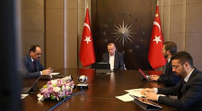 Cumhurbaşkanı Erdoğan, MİT Başkanı Fidan ile video konferansta görüştü