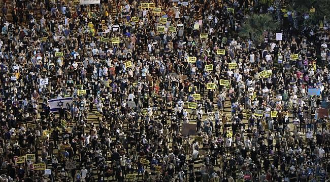 İsrail'de binlerce kişi Netanyahu hükümetini protesto etti