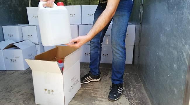 Antalya'da 2 bin 500 litre sahte içki ele geçirildi