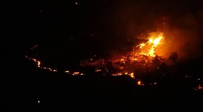 Elazığ'da orman yangını müdahale sürüyor