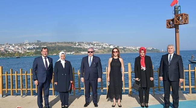 TBMM Başkanı Şentop ile PAB Başkanı Baron tekne turuna çıktı