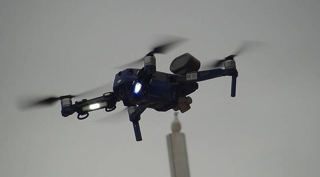 Taksim Meydanı'nda drone destekli korona virüs denetimi yapıldı