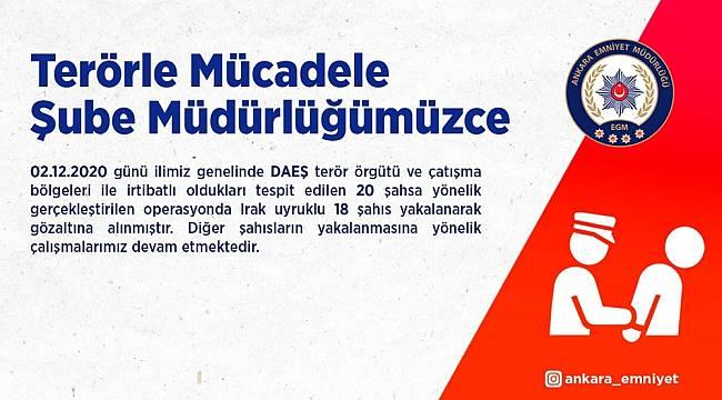 Başkent'te DEAŞ operasyonu: 18 gözaltı
