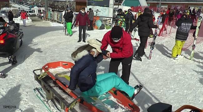Palandöken'de kayak ve kızak keyfi