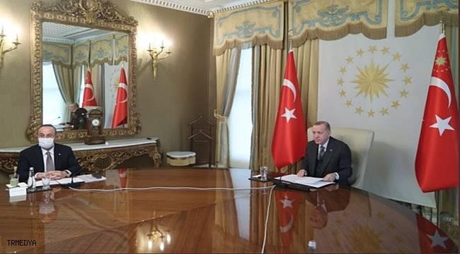 Cumhurbaşkanı Erdoğan, Michel ve von der Leyen ile görüştü