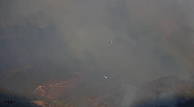 Mersin'deki orman yangınına havadan müdahale edilmeye başlandı