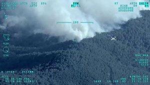 Mersin'deki orman yangınına müdahaleye İHA'larla destek veriliyor