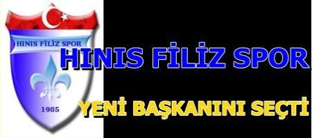 Hınıs Filiz Spor Kulüp Başkanlığına Mahmut ABİŞ Seçildi.