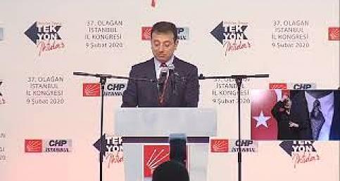 Ekrem İmamoğlu'nun İstanbul İl Başkanlığı'ndaki Konuşması